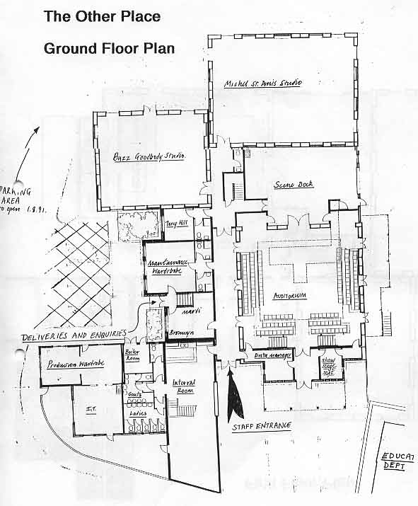 Royal Shakespeare Company The Other Place Ground Floor Plan